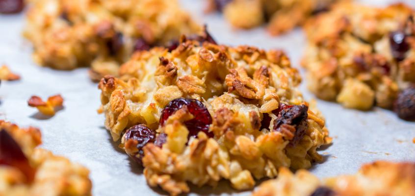 Ciasteczka owsiane z jabłkami