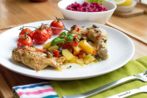 kurczak na ostro z warzywami
