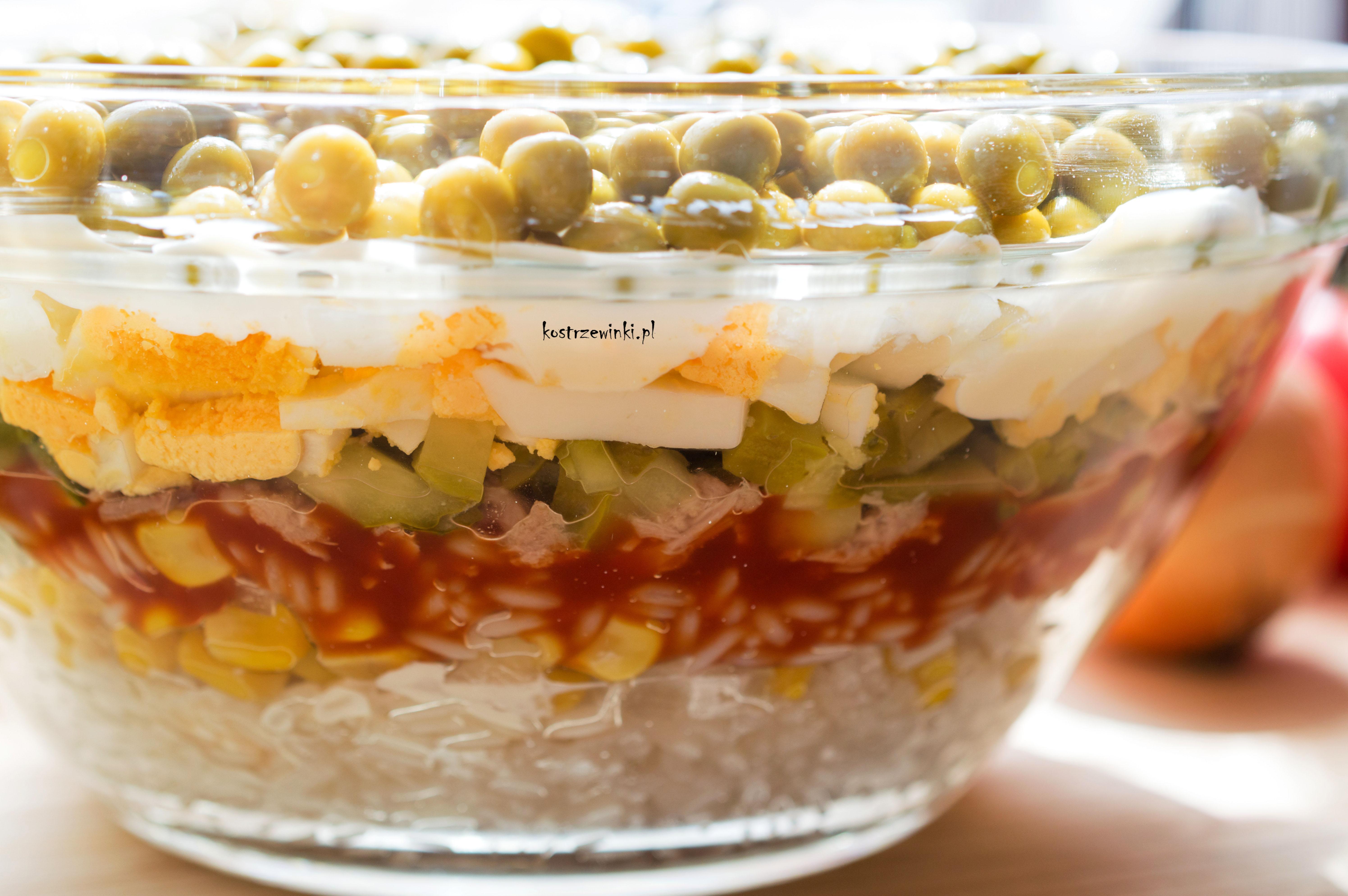 Salatka Warstwowa Z Tunczykiem Banialuki