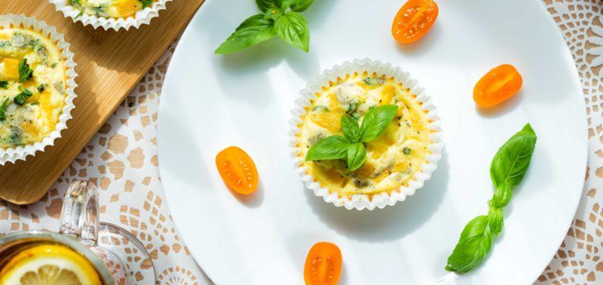 Warzywne muffiny jajeczne