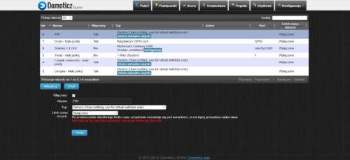 Dodawanie wirtualnego przycisku w systemie Domoticz