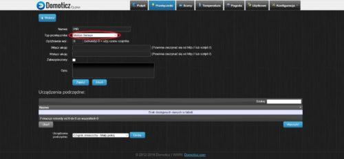 Dodawanie wirtualnego przyciusku w systemie Domoticz
