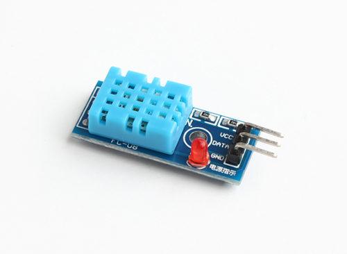 Wersja czujnika DHT11 z diodą sygnalizującą zasilanie
